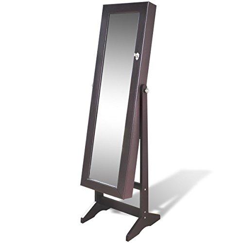 Espejo-joyero-marrn-de-pie-con-luz-LED