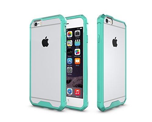 iPhone 6 Hülle, iPhone 6S Case, Kristall Transparent Klar Heavy Duty Ultra Slim Dämpfung Kratzfest Anti-Yellow Hard PC Cover für Apple iPhone 6 Hülle/iPhone 6S Schutzhülle, Grün