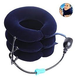 Pretty See Collare per Trazione Cervicale Gonfiabile,Trazione Cervicale Gonfiabile Dispositivo per Testa e Collo,3…
