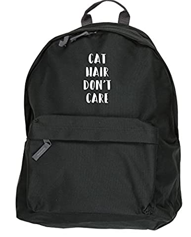 HippoWarehouse Cat Hair Don't Care backpack ruck sack Dimensions: 31 x 42 x 21 cm Capacity: 18