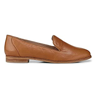 Cox Damen Damen Leder-Loafer in Braun, klassischer Slipper für Trendige City Outfits braun Glattleder 38