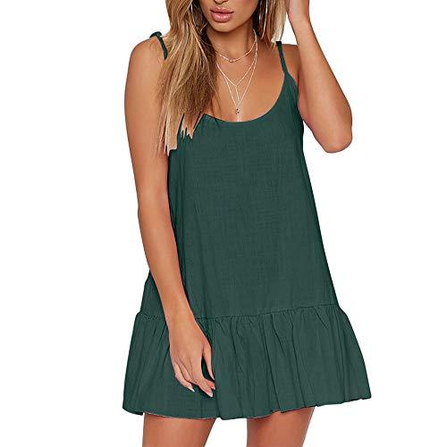 Slingkleid gekräuseltes ärmelloses Oansatz Minikleid Normallackwestenart und weise beiläufiges reizvolles kurzes Kleid Sonojie