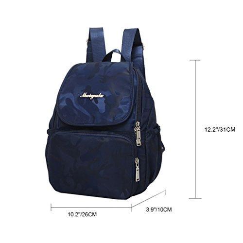627bc60276d59 Vbiger Oxford Rucksack Wasserdichte Schulschulterbeutel Lässige Rucksäcke  Modische Reise Daypack für Frauen Blau