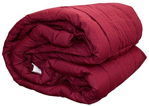 Trapunta piumone in microfibra invernale zucchi basics fluffy letto singolo o una piazza e mezza o matrimoniale (bordeaux, letto singolo cm 170 x 260)