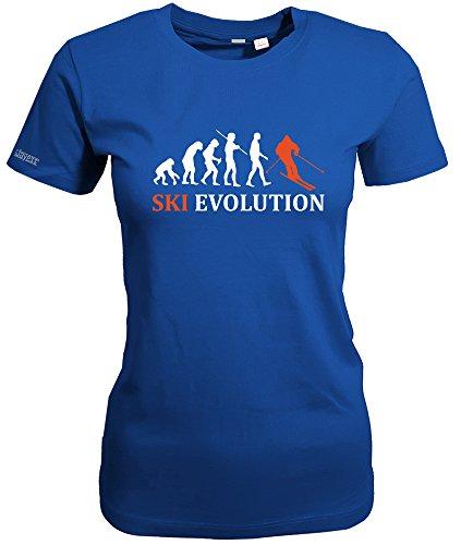 SKI EVOLUTION - WOMEN T-SHIRT Royalblau