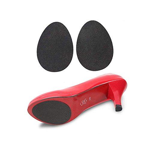 CAREOR 8 Paia di Scarpe Grips Pads Autoadesiva Pad Scarpa col Tacco Alto Gomma Antiscivolo Scarpe Suola Protector