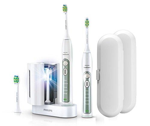 Philips Sonicare FlexCare+ elektrische Zahnbürste mit UV HX6973/35 Wiederaufladbare Schallzahnbürste Plus 2. Handstück, 2x Reiseetui, 3x Bürstenköpfe