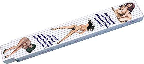 Preisvergleich Produktbild Holz - Zollstock 2 m Erotic 3 x Pin Up mit Spruch neu Handwerkerqualität Zweiseitig