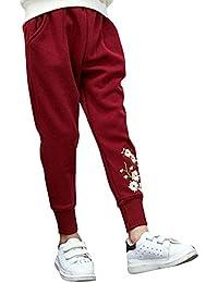 Liangzhu Niñas Pantalón Deportivo Jogger Casuales Pantalones Chándal De Cintura  Elástica 38e287ac20bc