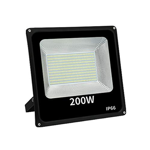 WKZ Flutlichtstrahler Flutlicht LED-Strahler 6500 K /3000 K IP66 Wasserdicht Fabrik Brücke Terrasse Draussen LED-Scheinwerfer (Farbe : Warmes Licht-200W)