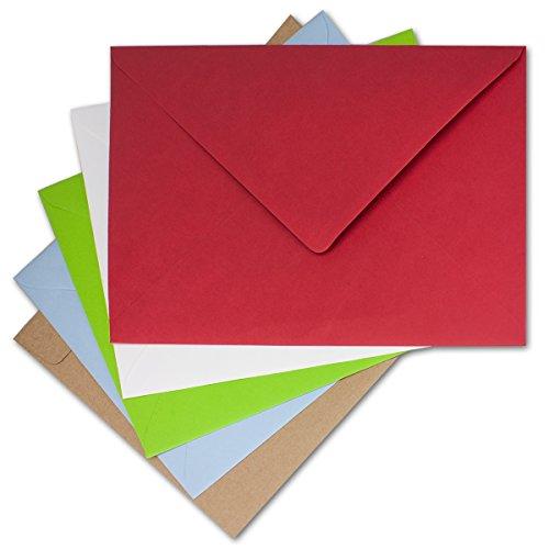 XXL Sobres de Juego en DIN C4, 25unidades en diferentes colores | enorme Sobres para Envío de DIN A4sin arrugas. | Colores variadas, nassklebung | de la Casa Gustav neuser