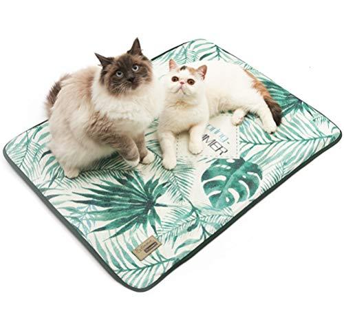 Kühlmatte für Hunde,selbstkühlende Matte für Hundebett, selbstkühlende Kühldecke, Sommer Matte für Kätze, natürliche Kühlung, super Komfort für jedes Kissen, ungiftig, leicht zu reinigen,80*63
