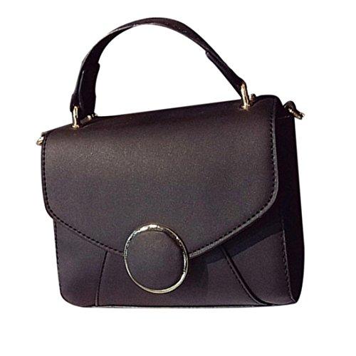 Hunpta Frauen Mode Handtasche Schulter Tasche Tote Damen Handtasche Small Square Bag Schwarz