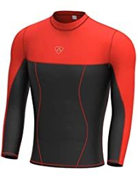 Deporteshera - Camiseta Térmica Manga Larga compresiva Fitness Ejercicio  Correr Yoga Hombre 041324910200e
