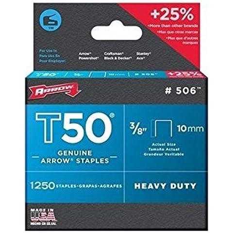 Arrow T50 Staples 10mm (3/8in) Box 5000 by qwikfast