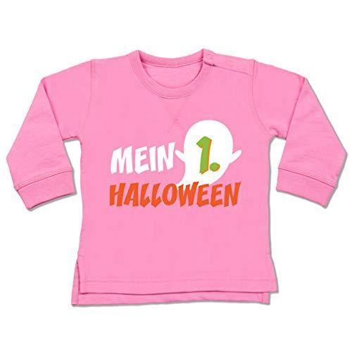 Shirtracer Anlässe Baby - Mein erstes Halloween Geist - 6-12 Monate - Pink - BZ31 - Baby Pullover