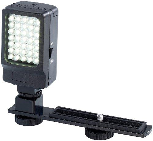 Fuß-nacht Schienen (Somikon Filmleuchte: Foto- & Videoleuchte, 35 Tageslicht-LEDs, 2,2 Watt, 250 Lumen, 5.600 K (Photoleuchte))