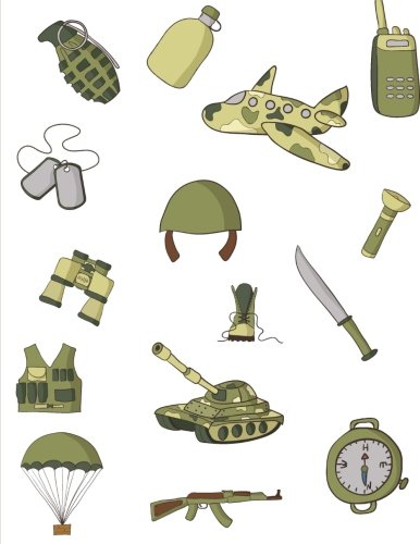 Graph paper notebook: Army / military themed. 160 pages graph / grid paper with 0.5 inch squares.  8.5 x 11 inch notebook (21.59 x 27.94 centimeters). Paperback