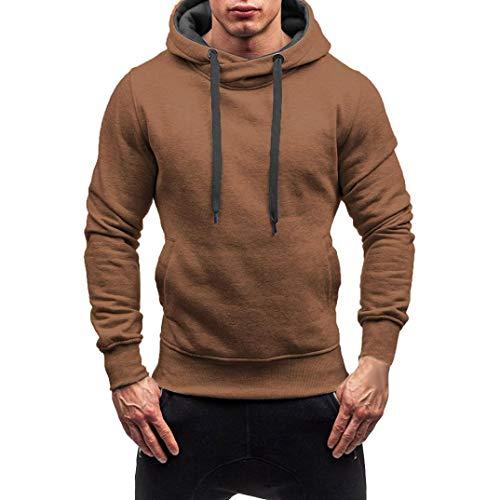 Cloom Kapuzenpullover Herren Hoodie Mode Sweatshirt Herren Hoody Strickpullover Männer Kapuzenjacke Sweatshirt mit Kapuze Mantel Outwear Kapuzenshirt Pulli...