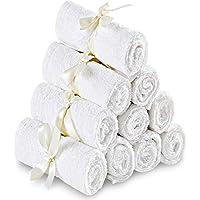 Utopia Towels - Salviette di bambù per Bambini - Asciugamani Morbidi e Altamente assorbenti di qualità Premium per Pelli sensibili - Salviette per Neonati Lavabili (10 Pacco, 25 x 25 cm)