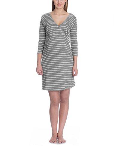 Bellybutton Damen Umstands Nachthemd HONORIA 1/2 Arm, Gestreift, Gr. X-Large, Grau (grey m Preisvergleich