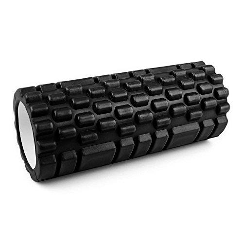 Capital Sports Yoyogi Fitnessrolle Schaumstoffrolle Foam Roller ideal für Yoga, Pilates & Fitness Übungen (33,5cmx 15cm x 15cm Schaumrolle, Rollen-Oberfläche mit Noppen) schwarz