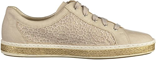 Rieker M8504, Sneakers Basses Femme Blanc (Offwhite/beige-lightgold / 80)