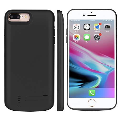 Custodia Batterie iPhone 6 7 8, 8000mAh Ultra Sottile Esterna Portatile Ricaricabile Power Bank Extra Pack Extended Battere Integrata Custodia Protettiva Bumper Cover per iPhone 6 7 8, Nero