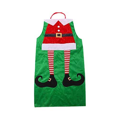 Amosfun Adultos Delantal Navidad Delantal