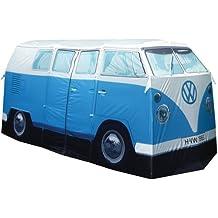 AE - VW Bulli Camping Bus Zelt -blau - im Set mit starkem LED Taschenscheinwerfer