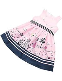Vovotrade bebé niñas Muchachas princesa Pageant Vestidos Flor de la bicicleta Amor lleno del corazón Romance Regalo sin mangas rosado, 2-7 años