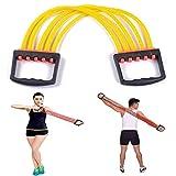 Extenseur de poitrine 2PCS, entraîneur de force de bras réglable de 5 tubes, système d'exercice de résistance, bandes de résistance physique pour l'exercice, pour l'entraînement de muscles à domicile