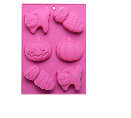 FantasyDay® Premium Silikon Backform/Muffinform für Muffins, Cupcakes, Kuchen, Pudding, Eiswürfel und Gelee - Halloween Brotbackform für eindrucksvolle Kreationen, hochwertige Silikon-Kuchenform