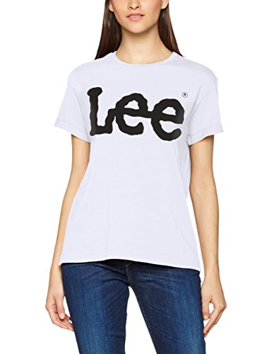 Lee Damen T-Shirt Logo Tee Weiß (White Ep12), Small