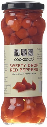 cooks&co Sweety Drop Red Peppers in Brine 235 g (Pack of 6)
