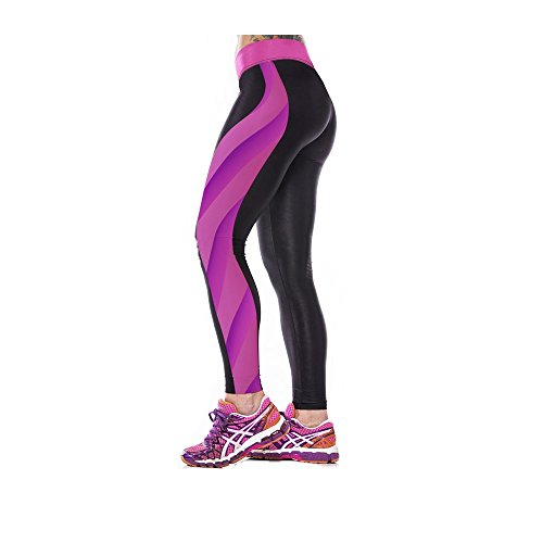 GGTBOUTIQUE - Legging de sport - Femme Multicolore Bigarré Multicolore - Galaxy Cartoon