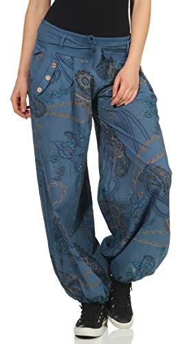 Malito Mujer Pantalón Estampado Yoga Pantalón-Anchos 3485 (Adecuado de la Talla 36 hasta 44, Color...