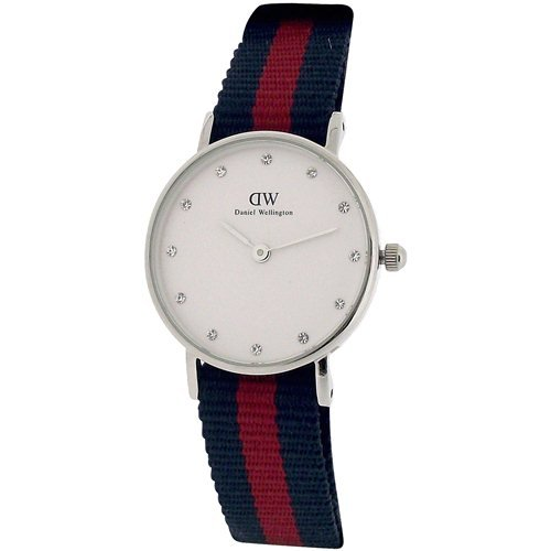 Daniel Wellington Ladies Classy Oxford 26mm Blue & Red NATO Strap Watch 0925DW