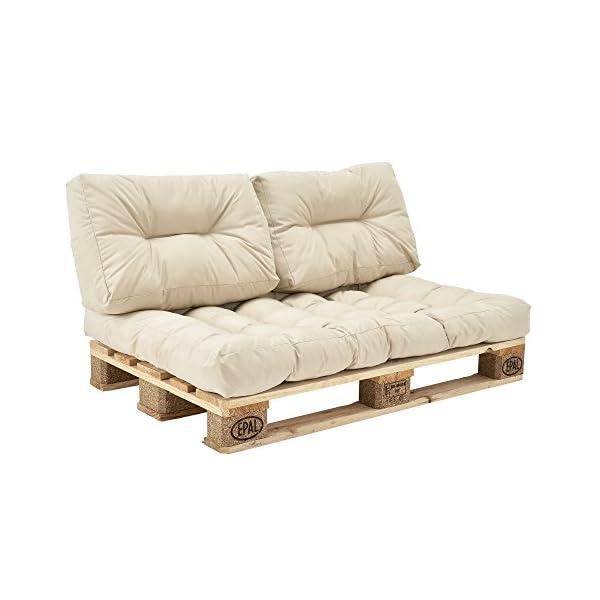 Cojines Tienda Casa.En Casa Set De 3 Cojines Para Sofa Pale Cojin De Asiento Cojines De Respaldo Acolchados Beige Para Europale In Outdoor