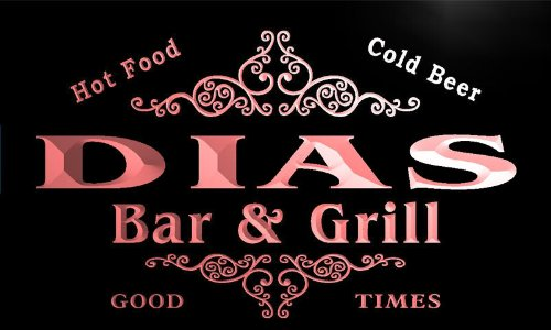 Dia-grills (u11357-r DIAS Family Name Gift Bar & Grill Home Beer Neon Light Sign Barlicht Neonlicht Lichtwerbung)