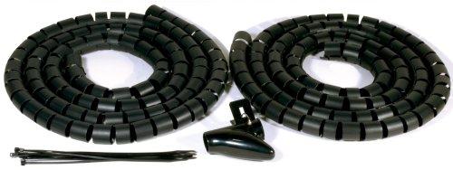 philex-27450r-deluxe-kabelaufraumpaket-2x-2-m-schwarze-ummantelung