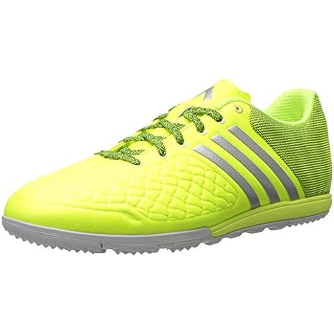 Adidas Ace 16.1 Primeknit fg / ag Botines de fútbol (verde solar, choque rosa), 12,0 D (m) con