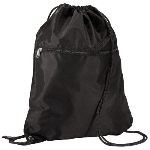 Imagen de quadra   saco o de cuerdas impermeable/resistente al agua modelo enhanced vis junior deporte/gimnasio 14 litros  talla única/negro