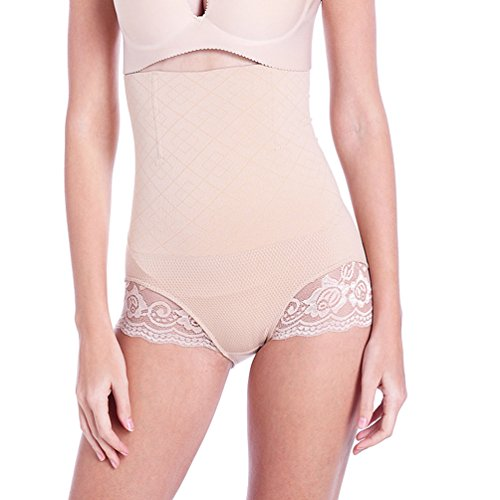 Heheja Femme Culotte Sculptante Cullotte Gainante Invisible Panty Minceur Avec Armature Body Gaine Amincissante Ventre Plat Taille Haute Serre Taille Boby Shapewear Skin XL