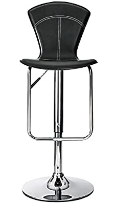 Alphason Virginia High Back Black Barstool produced by Alphason - quick delivery from UK.