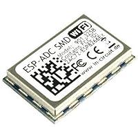 ESP-ADC SMD Modul mit ESP8266EX WLAN Chip, alle IOs des ESP8266 herausgeführt, gleiche Pin-Positionen wie in DIL Variante, mit FCC + CE