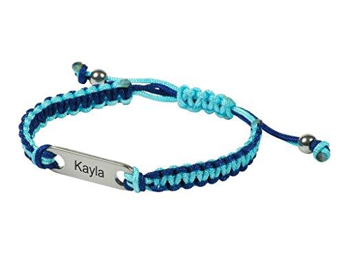 turquesa-azul-marino-fusion-nombre-id-pulsera-by-my-bugle-amistad-estilo-personalizado-identificacio