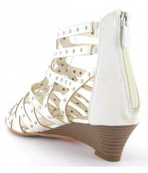 Clarisse - Sandales femme blanches - CL8048-3 Blanc