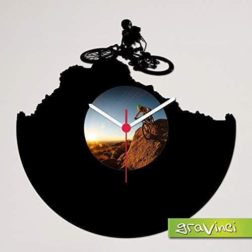 Gravinci.de Schallplatten-Wanduhr Fahrrad