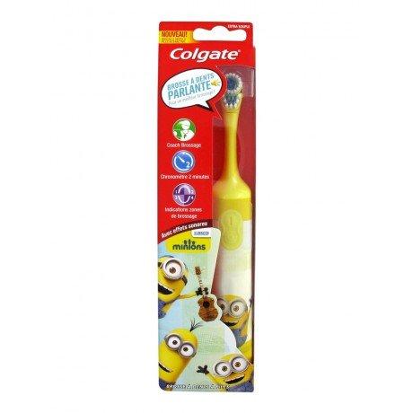 colgate-brosse-a-dents-electrique-minions-modele-bob-jaune